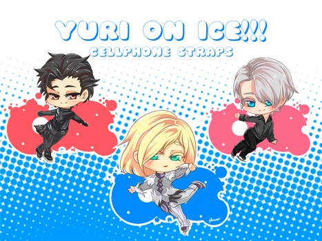 Yuri On Ice Cellphone straps! by HacchiJuu