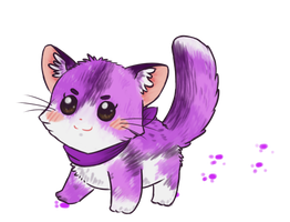 Purrrple Kitty Kat by Rika35