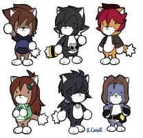 My characters have been kittyfied by rongs1234