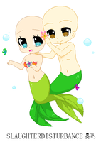 Chibi Mermaid Couple Base by SlaughterDisturbance