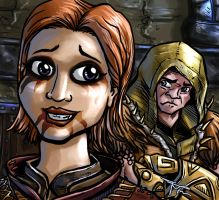 Skyrim Portraits Marieka So Mad at You by MirrorwoodComics