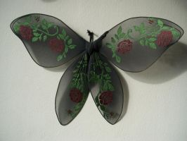Kristin's Roses costume wings by KimsButterflyGarden