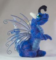 Felted Baby Fairy Dragon II by The-GoblinQueen