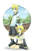 vocaloid - rin and len by rikuto-takatsuki