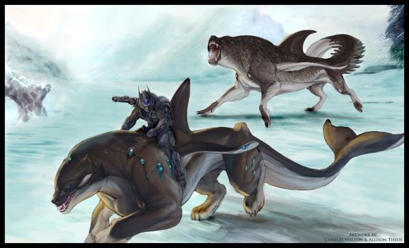 SPLICERS Patrol of the Akhluts by ChuckWalton