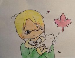 Canada from Hetalia Water Color by drawbot4000