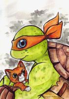TMNT 2K12 - Mikey and Klunk by KeyshaKitty