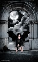 The goddes of nighttime by death-cupid