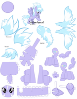 Cloudchaser Papercraft Sheathed Wings by jv9ufxcy