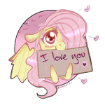 Flutterbat loves you (and apples) by Zakkurro