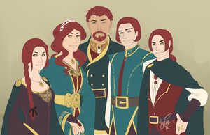 The Children of House Allard by memai-kins