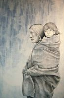 Spirit Walk Drawing by MichaelShapcott