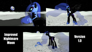 Improved Nightmare Moon by BlackArmsGeneral