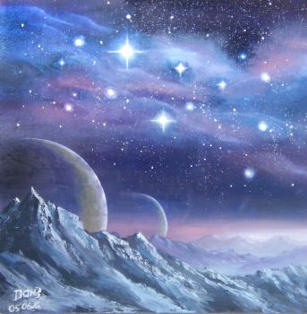 The Edge of Orion. 50x50 sm. Oil. Canvas. by Anatoly-Kim