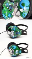 Skulls and pets headphones by Bobsmade