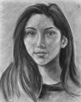 Self Portrait In Charcoal by V2Nessa