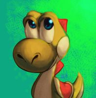 Yellow Yoshi by Pink-Shimmer