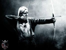 Viking woman Freja Lindahl by thecasperart