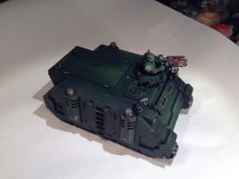 Warhammer 40k - Dark Angel Rhino by PixelRambo