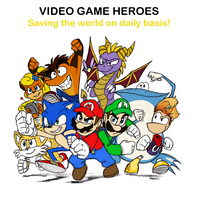Video Game Heroes by Mickeymonster
