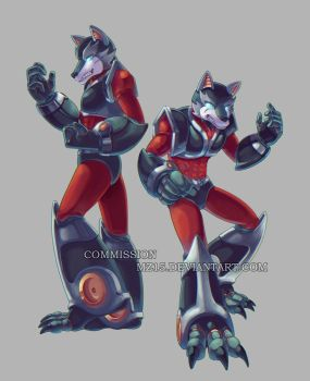 [Commission] Reploid Wolves by MZ15
