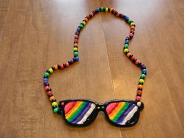 Rainbow Glasses Necklace by BlackVeilPride