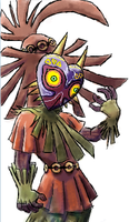 Skull Kid coloured by ozwalled