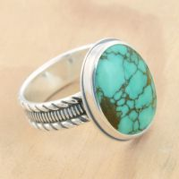 Custom Turquoise Ring by metalsmitten