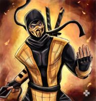 scorpion by synysterangel