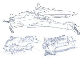 Vehicle sketches by dee-virus