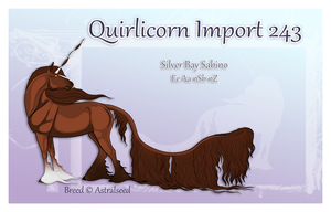 Quirlicorn Custom Import 243 by Astralseed