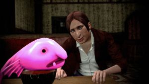 Clarie Redfield and Blob fish by Fidgetyknickers