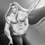 Shirtless Sephiroth by Mayleth