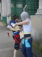 Sora and Riku Sparring by KellyJane