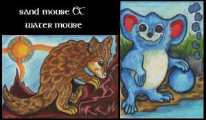 Sand Mouse and Water Mouse by lemurkat
