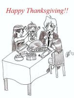 Thanksgiving Day Dinner by GourrySylphiel