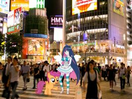 Scootaloo and Stocking in Tokyo by j4lambert