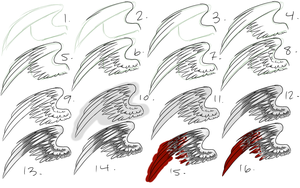 How I Draw Wings by insanityNothing