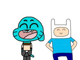 Gumball and Finn by MigsGarcia5127