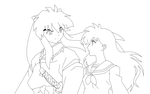 By Your Side Lineart by doll-fin-chick