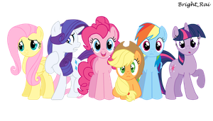 The Mane Six by brightrai
