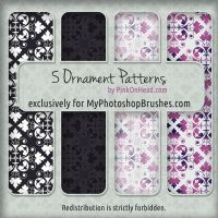 5 Free Ornament Patterns for Photoshop by pinkonhead