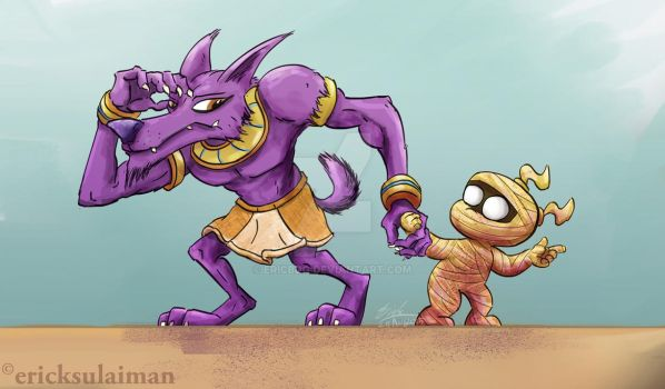 The Jackal and The Mummy by ericbdg