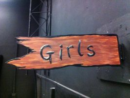 """Girls"" Sign for Straight Camp by tubanome"