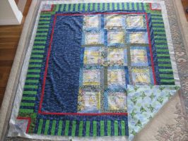 'Frog Cabin' Quilt WIP by lost-angle