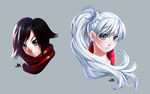 Faceart: Ruby Rose and Weiss Schnee by jadenkaiba