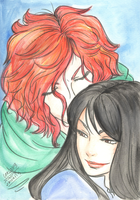 Kvothe and Denna by Ueki2013