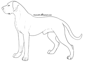 Great Dane - Free Lines by Freewolf7