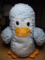 Fluffy blue penguin by Amigurumi-Lover