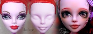 Monster High Operetta before/after by AshGUTZ